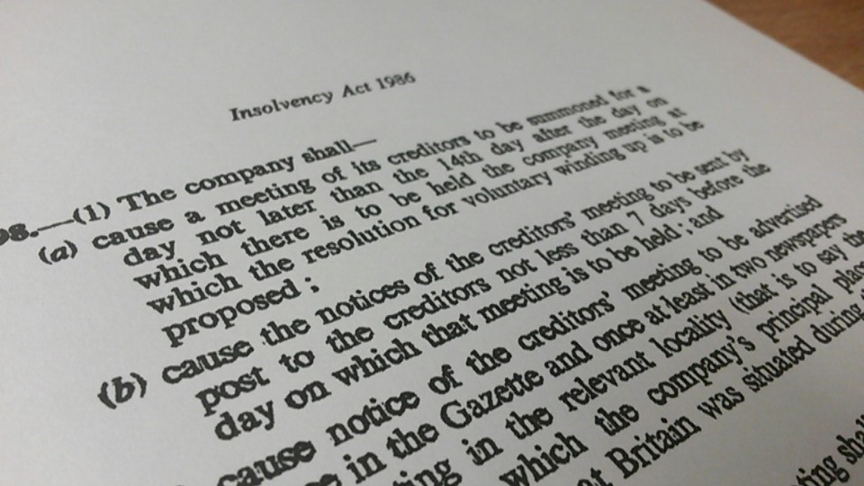 Insolvency Act 1986